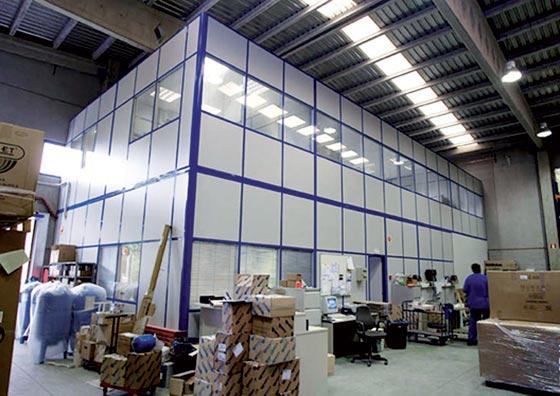 couvre joints plateforme industrielle mezzanine