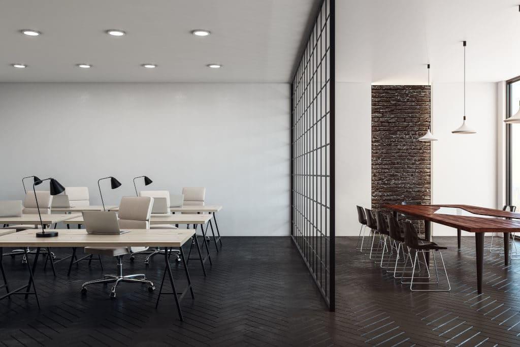 Verriere intérieure pour espace coworking